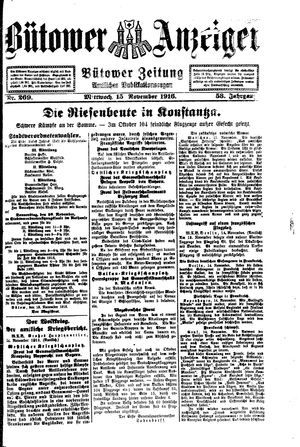 Bütower Anzeiger vom 15.11.1916
