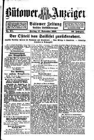Bütower Anzeiger vom 17.11.1916