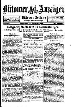 Bütower Anzeiger vom 18.11.1916