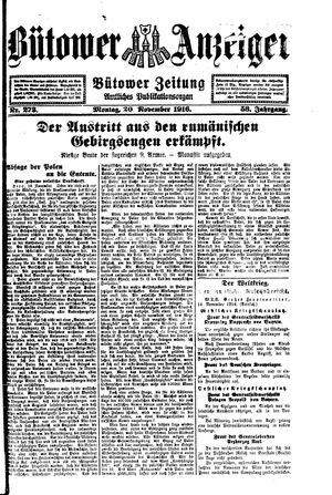 Bütower Anzeiger vom 20.11.1916