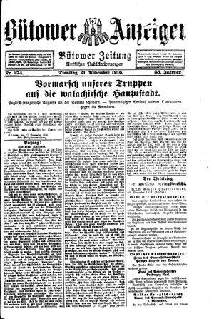Bütower Anzeiger vom 21.11.1916