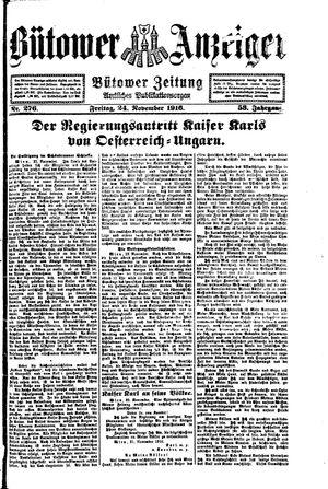 Bütower Anzeiger vom 24.11.1916