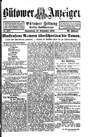 Bütower Anzeiger vom 25.11.1916