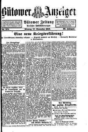 Bütower Anzeiger vom 27.11.1916
