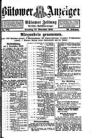 Bütower Anzeiger vom 28.11.1916