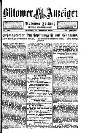 Bütower Anzeiger vom 29.11.1916