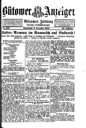 Bütower Anzeiger vom 02.12.1916