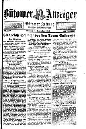 Bütower Anzeiger vom 03.12.1916