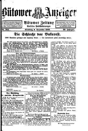 Bütower Anzeiger vom 05.12.1916