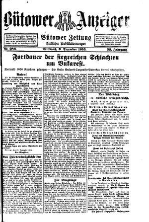 Bütower Anzeiger vom 06.12.1916