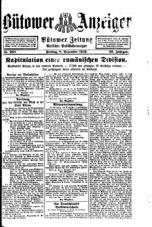 Bütower Anzeiger vom 08.12.1916