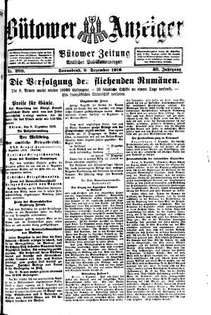 Bütower Anzeiger vom 09.12.1916