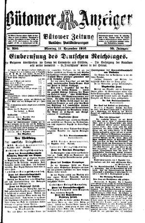 Bütower Anzeiger vom 11.12.1916