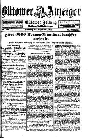 Bütower Anzeiger vom 12.12.1916
