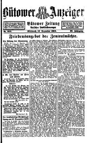 Bütower Anzeiger vom 13.12.1916