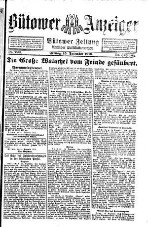 Bütower Anzeiger vom 15.12.1916