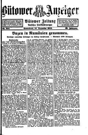 Bütower Anzeiger vom 16.12.1916