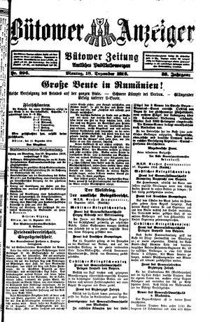 Bütower Anzeiger vom 18.12.1916