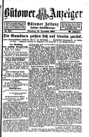 Bütower Anzeiger vom 19.12.1916