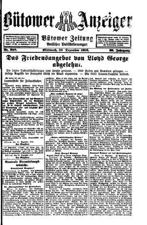 Bütower Anzeiger vom 20.12.1916