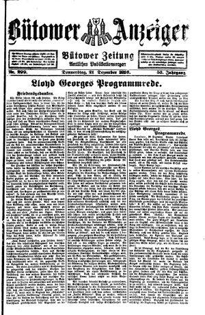 Bütower Anzeiger vom 21.12.1916