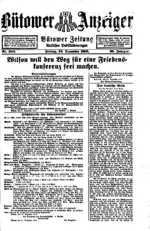 Bütower Anzeiger vom 22.12.1916