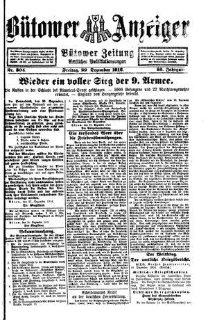 Bütower Anzeiger vom 29.12.1916