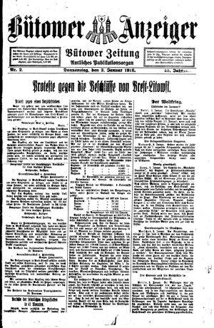 Bütower Anzeiger vom 03.01.1918