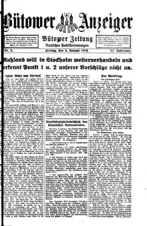 Bütower Anzeiger vom 04.01.1918