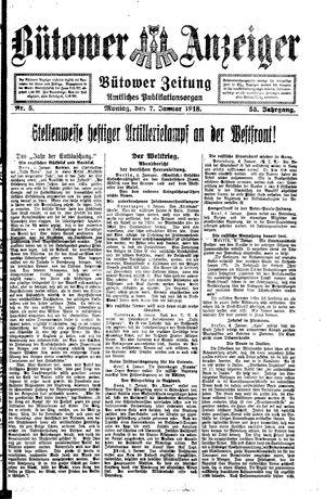 Bütower Anzeiger vom 07.01.1918