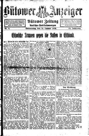 Bütower Anzeiger vom 10.01.1918