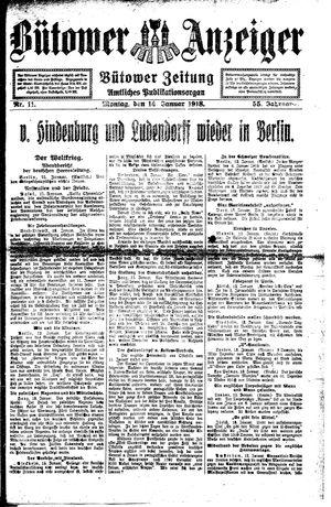 Bütower Anzeiger vom 14.01.1918