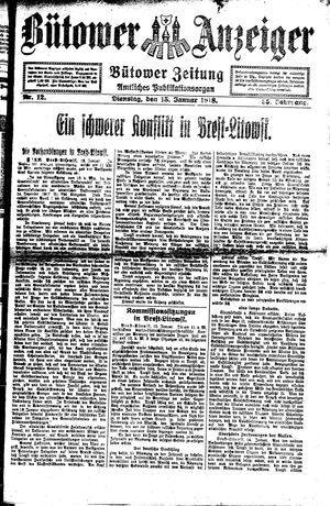 Bütower Anzeiger vom 15.01.1918