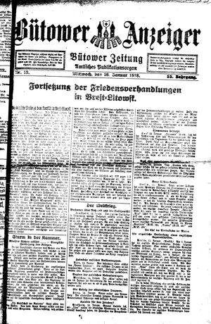 Bütower Anzeiger vom 16.01.1918