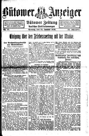 Bütower Anzeiger vom 21.01.1918