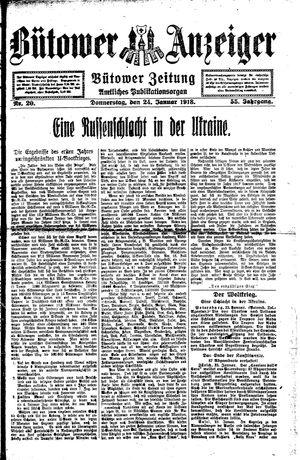 Bütower Anzeiger vom 24.01.1918