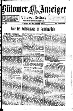 Bütower Anzeiger vom 25.01.1918