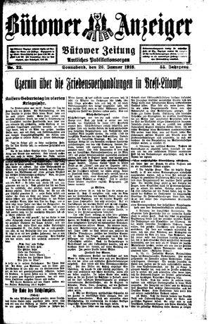Bütower Anzeiger vom 26.01.1918