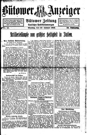 Bütower Anzeiger on Jan 28, 1918