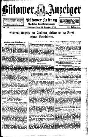 Bütower Anzeiger vom 29.01.1918