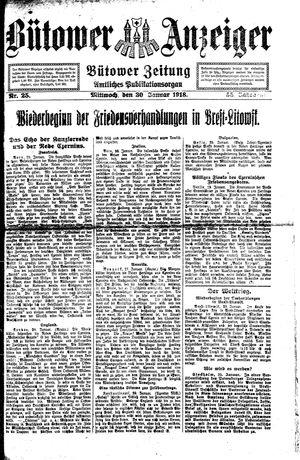 Bütower Anzeiger vom 30.01.1918