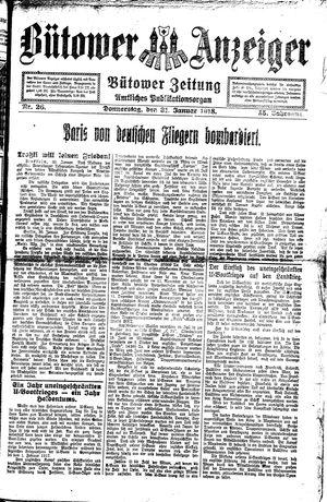 Bütower Anzeiger vom 31.01.1918
