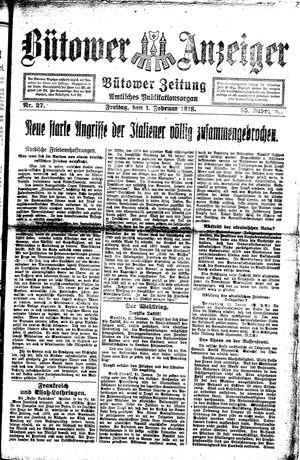 Bütower Anzeiger vom 01.02.1918