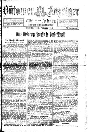 Bütower Anzeiger vom 05.02.1918