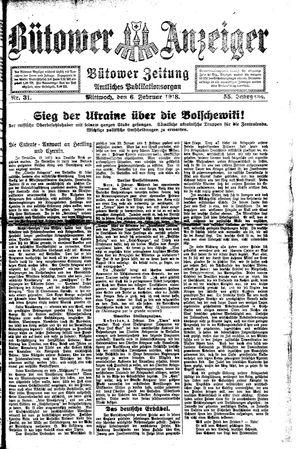 Bütower Anzeiger vom 06.02.1918