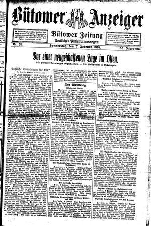 Bütower Anzeiger vom 07.02.1918
