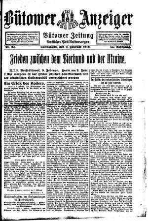 Bütower Anzeiger vom 09.02.1918