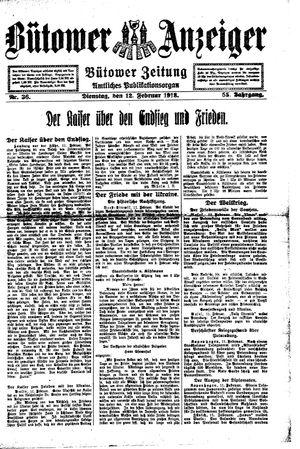 Bütower Anzeiger vom 12.02.1918