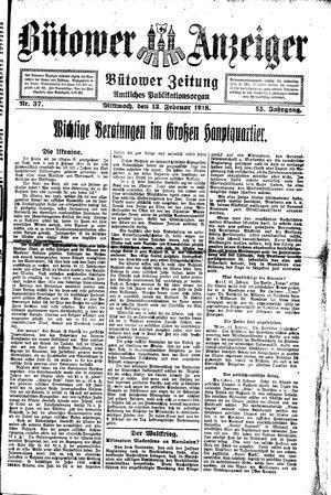 Bütower Anzeiger vom 13.02.1918