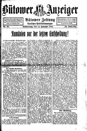Bütower Anzeiger on Feb 14, 1918